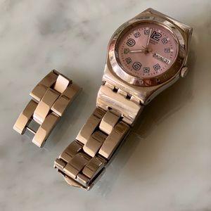Swatch Irony Medium Ciel Clair violet watch